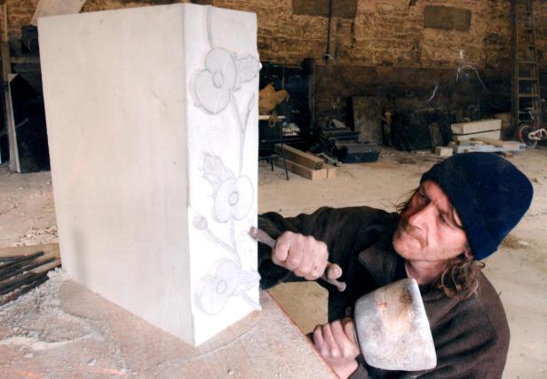 Ed carving memorial