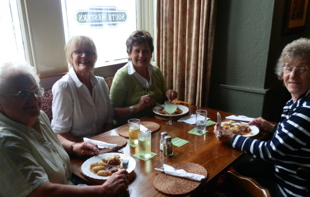 South Western Golden Girls Enjoy Pat's Yummy Under A Fiver Lunch